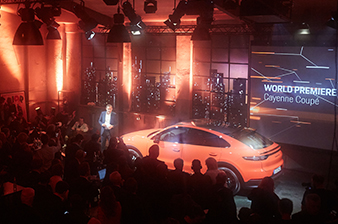 World Premiere of the new Cayenne Coupé